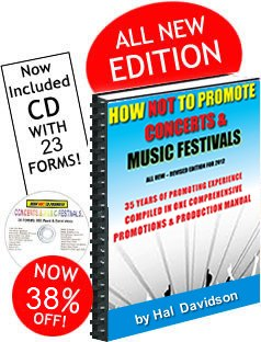 Book offer on How Not to Promote Concerts and Music Festivals