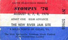 Stompin Ticket Stub