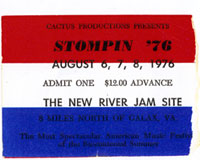 Stompin' 76 ticket